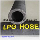 Fil d'acier à haute pression de gaz GPL tressée flexible en caoutchouc