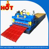 O rolo vitrificado da telha que dá forma ao painel do rolo da máquina lamina a formação da máquina para o aço