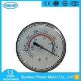 manómetro chapeado cromo dos foles da alta qualidade de 60mm