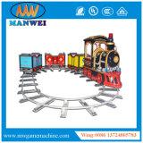 O trem eletrônico da rotação de Rocket do carrossel a fichas da trilha vai em volta da máquina de jogo do carrossel