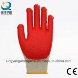 Перчатки Coated самой дешевой безопасности латекса вкладыша хлопка работая (L006)