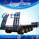 Aanhangwagen van de Vrachtwagen van de Lading van triLowboy van Assen de Semi met Hydraulische Ladder