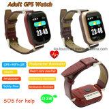 접촉 스크린 심박수 (D28)를 가진 성숙한 GPS 추적자 시계