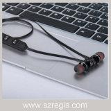 Melhor em auriculares estereofónicos magnéticos dos auscultadores de Bluetooth 4.0 do metal sem fio da orelha