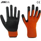 Покрынные нитрилом перчатки работы работы Зебр-Нашивки защитные (U201)
