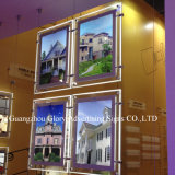 Publicidade Edge Lit LED suspenso Crystal LED Light Box