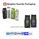 sacchetto laterale nero opaco del sacchetto di plastica del caffè del rinforzo del di alluminio di 250g 500g 1kg 2kg 12oz 14oz 16oz