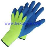 Gant chaud de l'hiver, gant de latex, doublure d'acrylique de 7 mesures