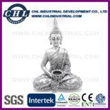 Verschiedene Entwürfe passten Indien-frommen Dekoration-Stein-Buddha-Kopf an