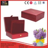 Faux rosso Leather Material Snap fatto a mano Gift Box (1007R3)