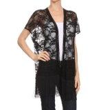 Moda Moda feminina Sexy Nylon Lace Loose Ladies 'Shirt