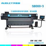 Anchura de la impresión del precio el 1.9m de la impresora de la inyección de tinta de las pistas del doble 5113 de la sublimación de Audley S8000-3