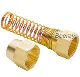 Écrou de tuyau de frein à air DOT en cuivre et ressort attaché