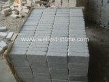 Pietra grigio-chiaro del ciottolo del granito di caduta, granito Setts