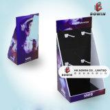 Affichage en suspension ondulée Écran de support de sol avec cintres Sous-vêtement Affichage de crochets en carton