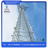 강철에 의하여 직류 전기를 통하는 통신 삼각형 탑