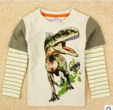 L'impression de vêtements pour enfants seul commerce de gros et les exportations de garçons T-Shirt à manches longues de la vente directe en usine