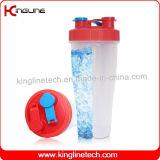 800ml plastic dubbele gescheiden vrije schudbekerfles BPA (kl-7015B)