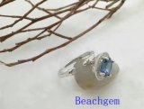 宝石類Tanzaniteの純銀製のリング(R0275)