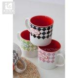 Nueva taza de cerámica modificada para requisitos particulares de la insignia 14oz de China de hueso