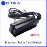 Customized 3 vias Mini leitor e gravador de cartão magnético