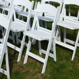 Outdoor Weddings를 위한 까만 Padded Resin Folding Chair