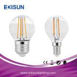 Bombilla del filamento de RoHS 5W G45 E14/E27 LED del Ce