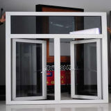 Окно рамки UPVC двойного отверстия белое