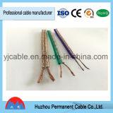 Twin violette et grise isolant en PVC transparent souple Câble Audio Haut-parleur
