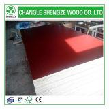 Núcleo de madera de contrachapado de melamina de color rojo para la construcción