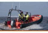 Tubo riempito non aereo di Aqualand 26feet 8m/D-Tipo solido barca gonfiabile rigida del cuscino ammortizzatore della gomma piuma di EVA/barca della nervatura (rib800)