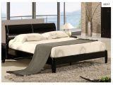Azteca Birlea Negro Brillante marco de la cama de 5 pies de cama