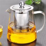 Teapot de vidro elevado da resistência 450ml do alcalóide com Infuser