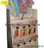 Barras de labios de la señora cartón y el suelo ganchos del soporte de exhibición, soporte de exhibición de papel (B & C-B002)