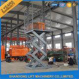 2t Scissor hydraulischen Fracht-Ladung-Höhenruder-Aufzug mit Cer