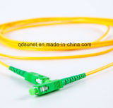 Fibre optique recto Patchcord de SM de Sc/APC