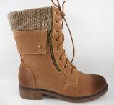 Calzado de moda 2015 Zapatos mujer en el tobillo bota con forro superior gamuza plegado de la punta de pincel ate Volver