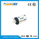 Bateria de lítio Er14250 da densidade 1200mAh do de alta energia para o PLC