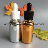 Il contagoccia placcante delle bottiglie di vetro dell'olio essenziale di colore imbottiglia 15ml, 30ml