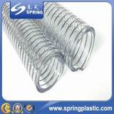 Boyau renforcé de débit industriel de l'eau de fil d'acier de PVC