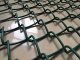 Le PVC a enduit la frontière de sécurité de maillon de chaîne/maille de diamant utilisées pour le jardin