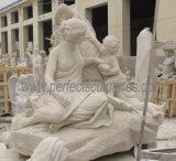 Intagliando statua di marmo di pietra per la scultura del giardino (SY-X1723)