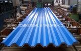 建築材料の高品質の波形の鋼鉄屋根ふきシートのカラーによって塗られる電流を通された波形の鋼鉄屋根ふきシート