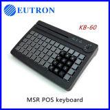 Leitura de cartão programável teclado usb, teclado com leitor Magstripe