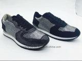 Calzature nere di sport delle donne del PVC Outsole dell'iniezione di colore (ET-MTY160331W)