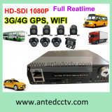 4CH 8 Channel in Vehicle DVR mit GPS Tracking Support Hard Drive