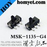 Interrupteur à glissière miniature pour produits numériques (MSK-1135-G4)