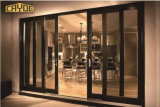 二重ガラスのハリケーンの影響のアルミニウムによって蝶番を付けられるドア