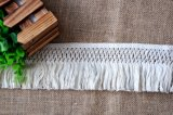 Frangia della nappa del merletto del cotone di modo 9.5cm per i vestiti della Tabella