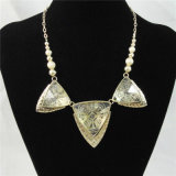 Nuevo elemento de cuero elegante del collar de la joyería de moda de zinc